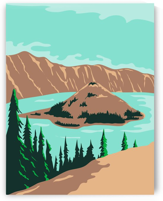 Crater Lake Oregon by Artistic Paradigms