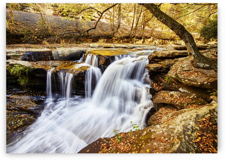 Dunloup Falls near the largely abandoned old coal town of Thurmond in Fayette County  West Virginia. by 7ob