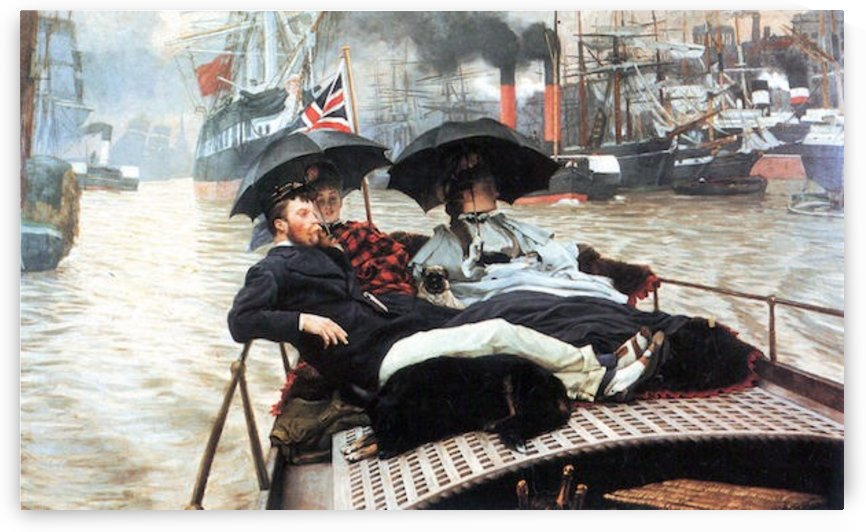 The Thames by Tissot by Tissot