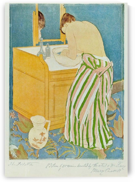 The Toillette by Cassatt by Cassatt