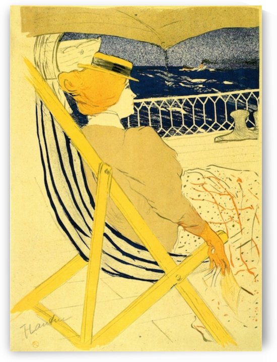 The traveller 2 by Toulouse-Lautrec by Toulouse-Lautrec