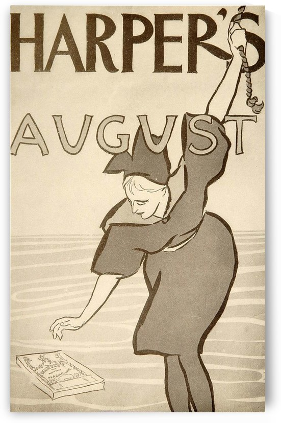 Harpers August Edward Penfield Mini Poster by VINTAGE POSTER