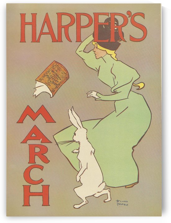 Harpers March Edward Penfield Mini Poster by VINTAGE POSTER