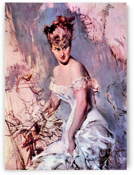 The actress Alice Regnault by Giovanni Boldini by Giovanni Boldini