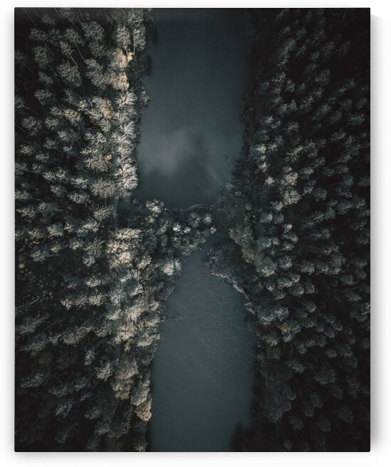 Aerial view of woodlands in Kletterwald Stra  m  hle  Pyrbaum  Germany by 7ob