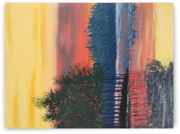 Sunset lake by Alexey Kogosov