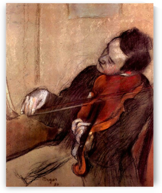 The violinist 1 by Degas by Degas