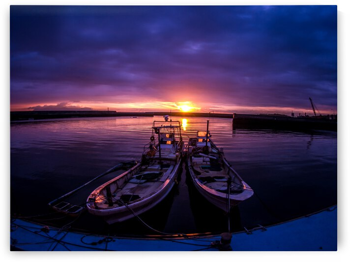 Landscape Sunset Sea Clouds Ship Reflection Water Sky Waterway by 7ob
