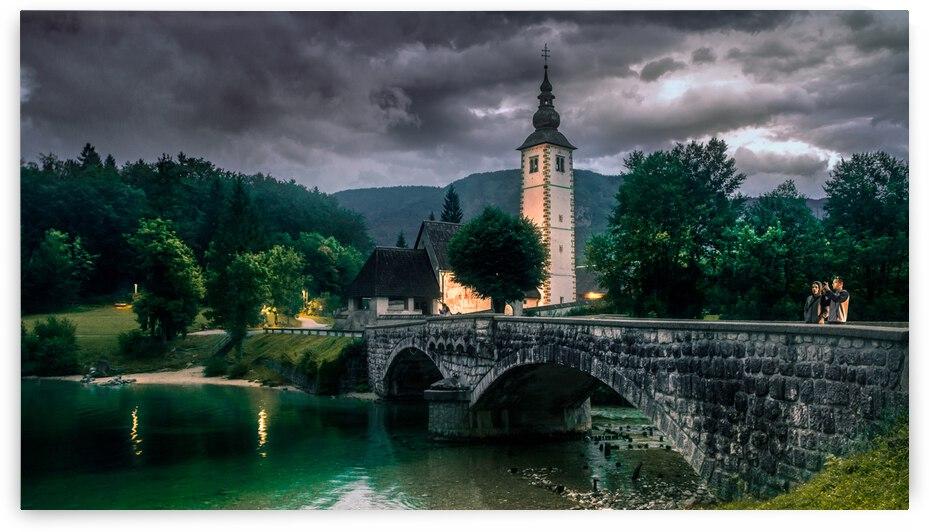 Landscape Rib Evlaz Radovljica Slowenien Si Slovenia Church Architecture Bridge by 7ob