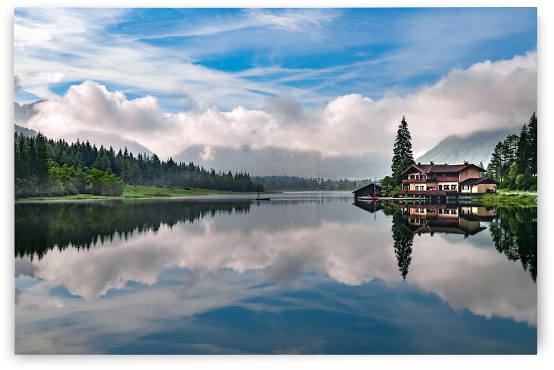 Landscape Lake Reflection Sky Cloud Nature Water Wilderness  Reservoir Morning by 7ob