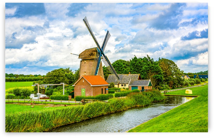Dutch  Environment  Farm Field Agriculture Architecture Blue Canal Cloud Construction Green Holland by 7ob