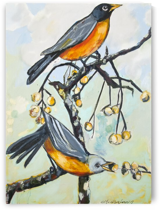 His and Her Louisiana Robins by Caroline Youngblood
