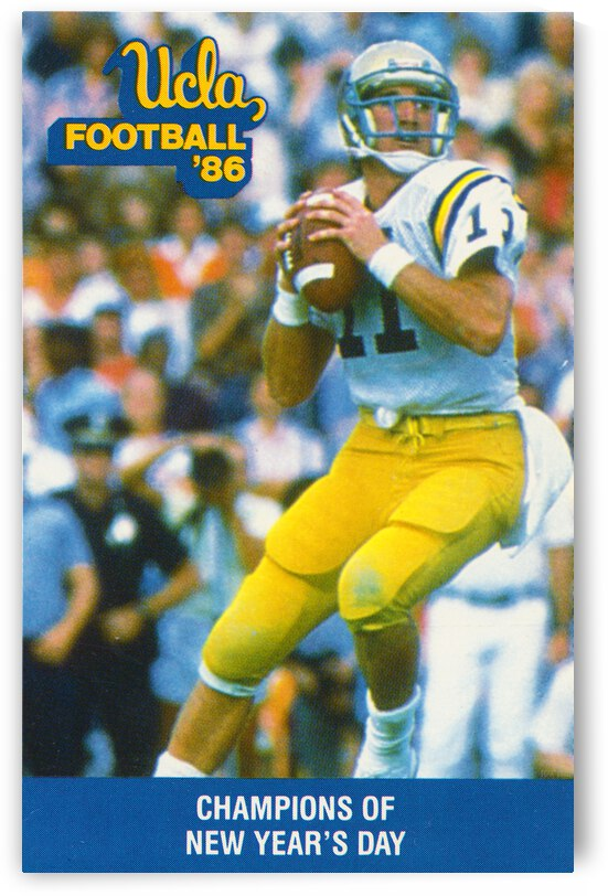 1986 UCLA Bruins Football Poster by Row One Brand