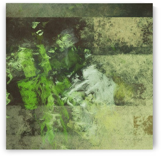 Green Abstract by Sherry L Grandy