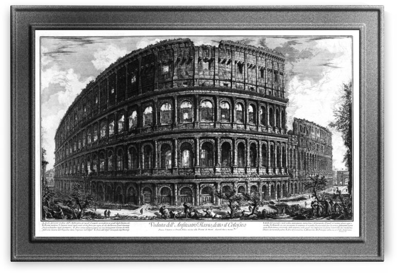The Colosseum by Giovanni Battista Piranesi Old Masters Classical Fine Art Reproduction by xzendor7