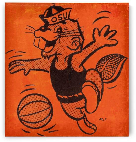 1973 Oregon State OSU Basketball Canvas Art by Row One Brand