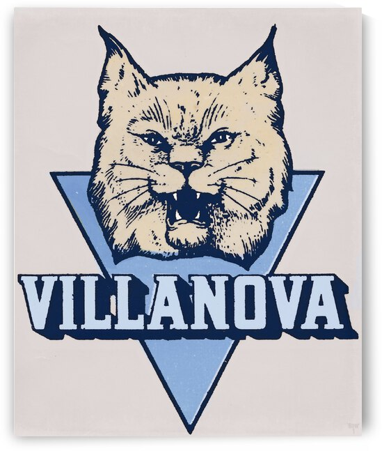 Vintage Villanova Wildcats Art by Row One Brand