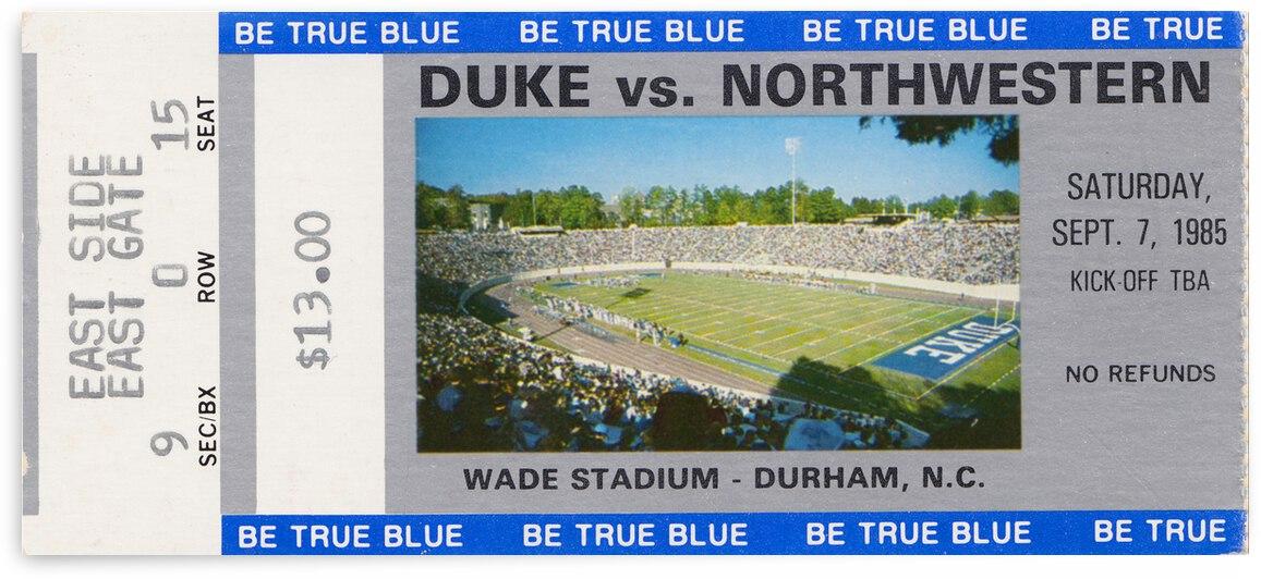 1985 Duke vs. Northwestern Football Ticket Canvas by Row One Brand