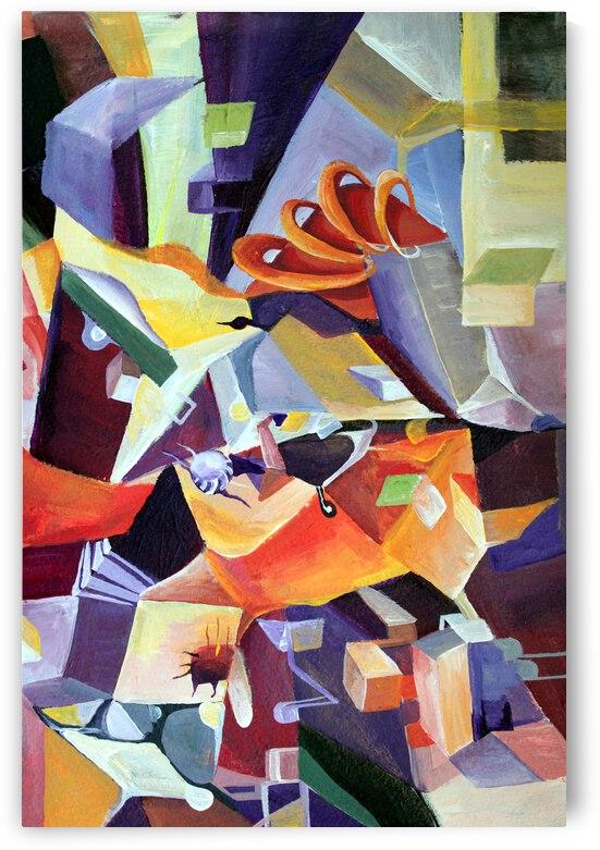 Dynamic Cubism  by Nisuris Art