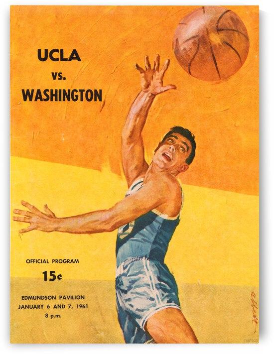 1961 UCLA vs. Washington Basketball Program Cover Art by Row One Brand