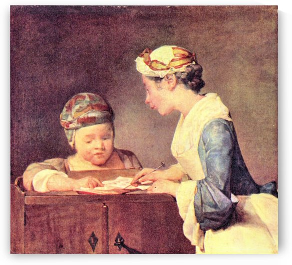 The young teacher by Jean Chardin by Jean Chardin