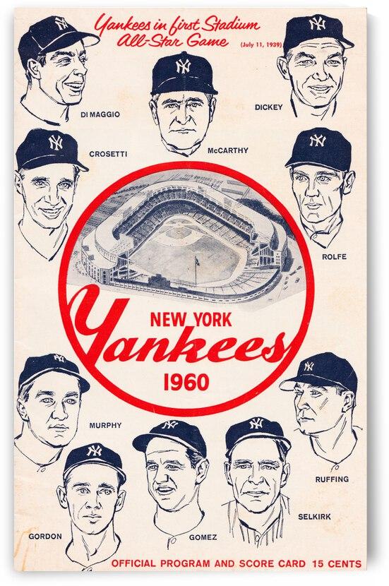 1960 New York Yankees Program Canvas Art by Row One Brand