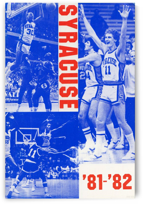 1981 Syracuse Basketball Poster by Row One Brand
