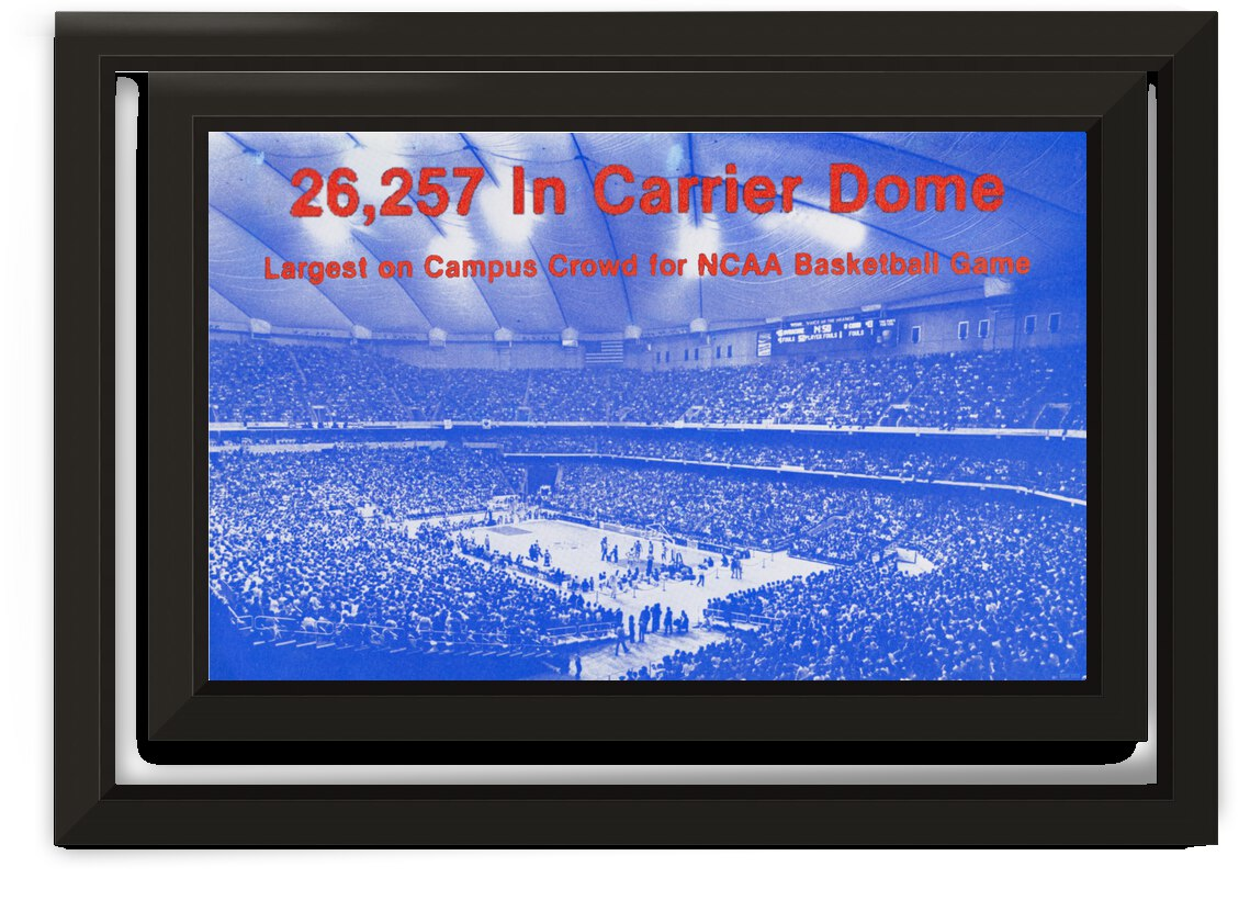 1981 Syracuse Carrier Dome Record Crowd Poster by Row One Brand