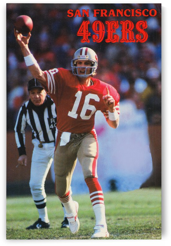 1987 San Francisco 49ers Joe Montana Poster by Row One Brand