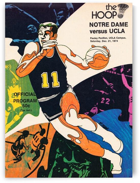 1974 UCLA vs. Notre Dame Basketball Program Cover Art by Row One Brand