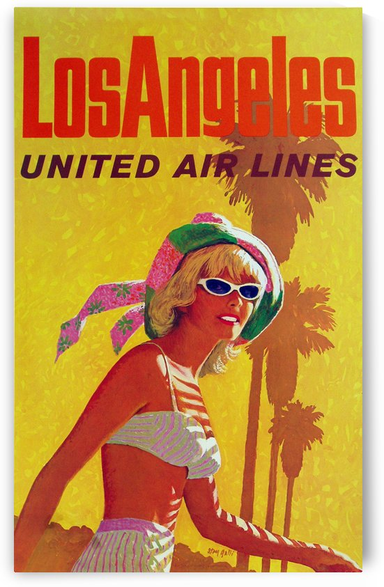 Los Angeles United Air Lines by VINTAGE POSTER