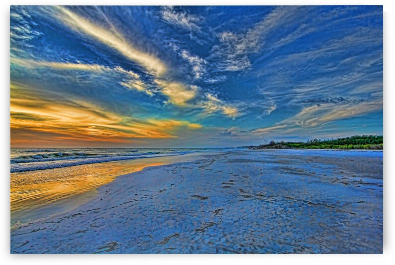 Deserted Beach At Sunset  by HH Photography of Florida