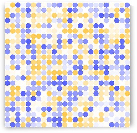 Yellow and Blue Polka by rizu_designs