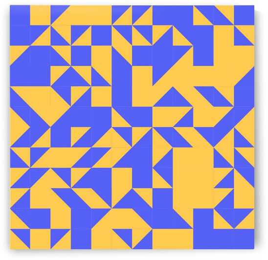 Mid Century Yellow Geometric by rizu_designs