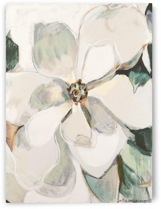 Neutral Louisiana Magnolia II Bright White by Caroline Youngblood