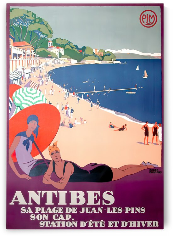Antibes Original Poster by VINTAGE POSTER
