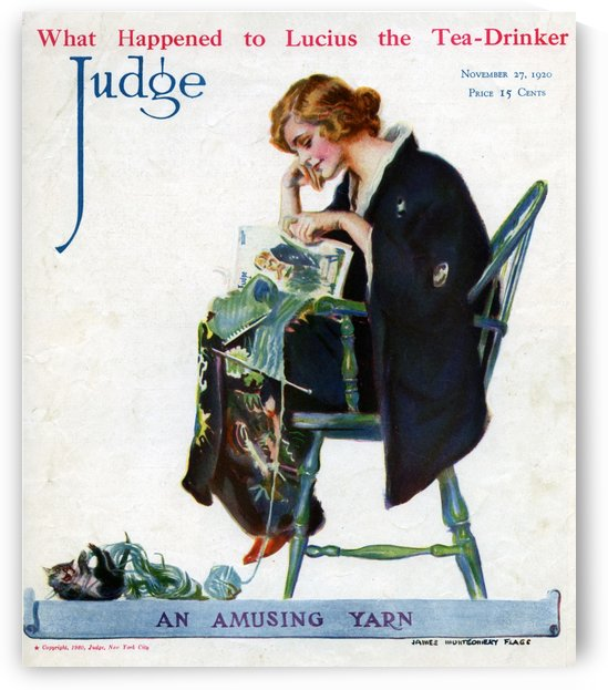 An amusing yarn, 1920 by VINTAGE POSTER