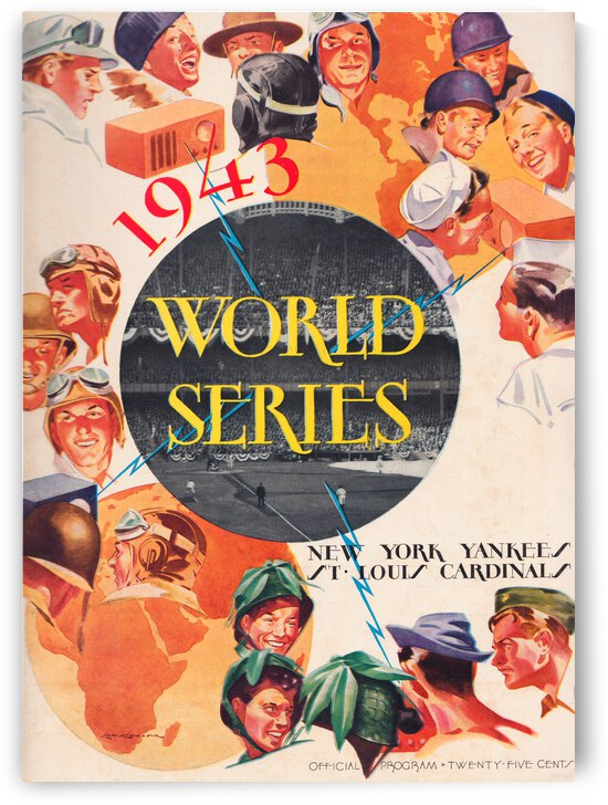 1943 World Series Program Poster by Row One Brand