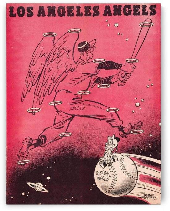 1962 Los Angeles Angels Karl Hubenthal Art by Row One Brand