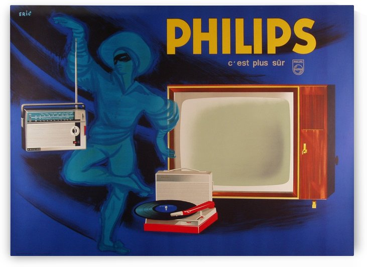 The Philips genie makes new technology magic by VINTAGE POSTER