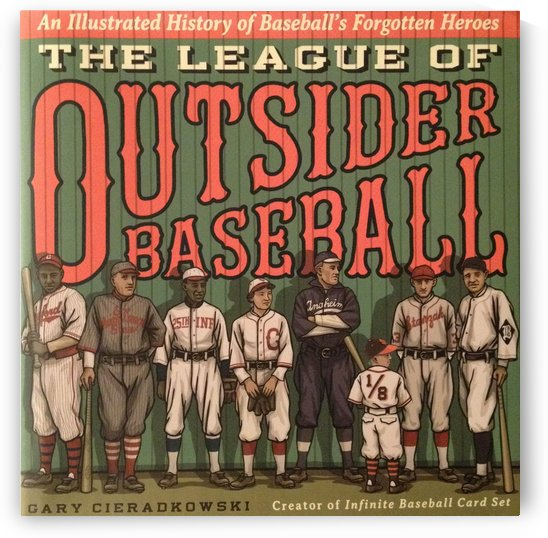 League of Outsider Baseball by VINTAGE POSTER