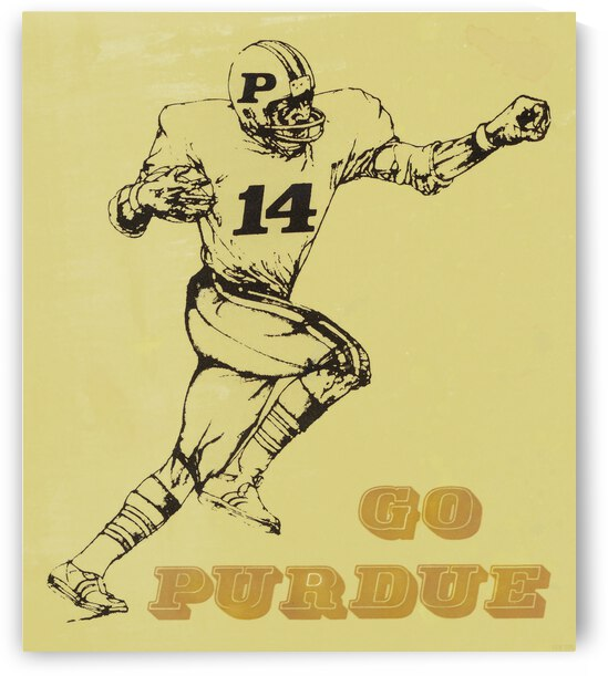 1987 Purdue Football Poster by Row One Brand