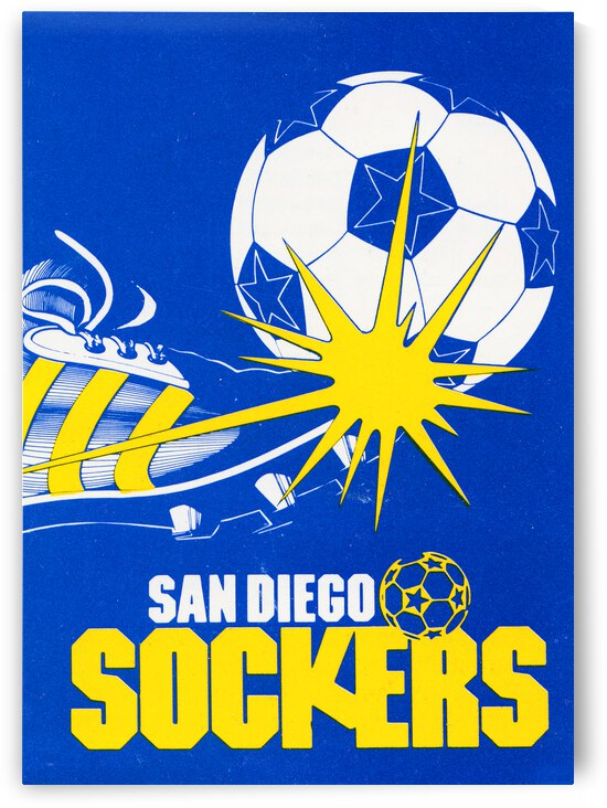 1982 San Diego Sockers Retro Soccer Poster by Row One Brand