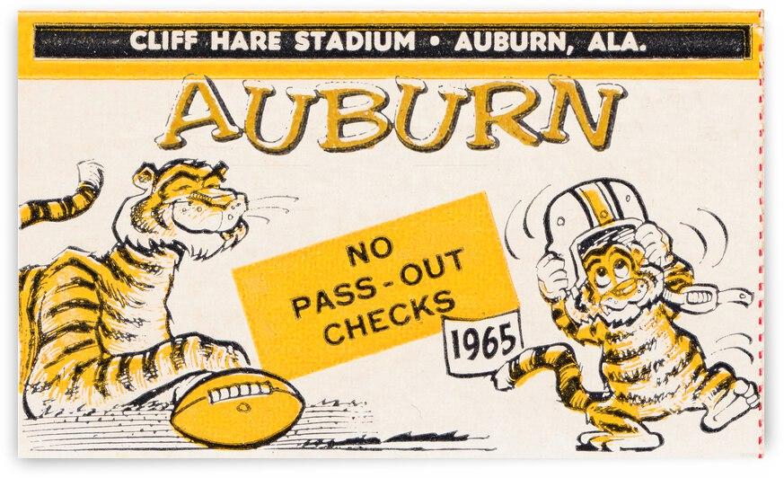 1965 Auburn Football Ticket Stub Remix by Row One Brand