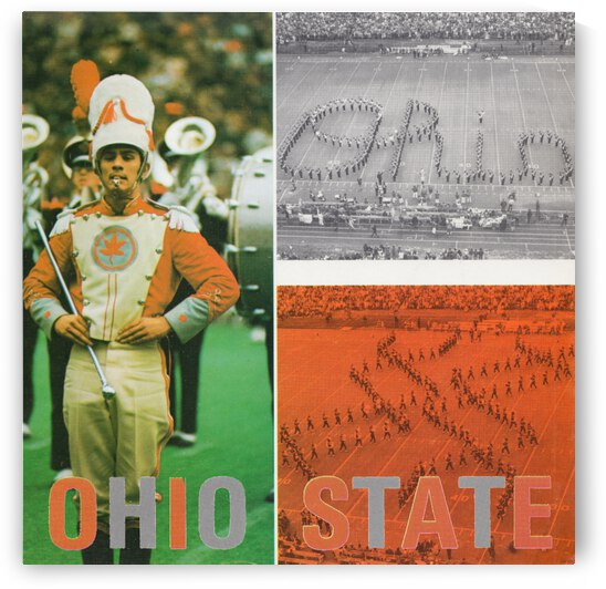 1973 Ohio State Marching Band Art Poster by Row One Brand