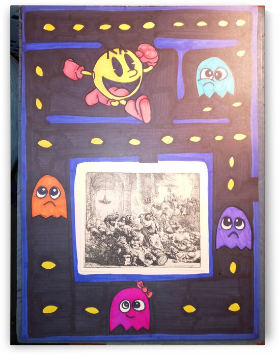 Pacman and Rembrandt by Betojimenez