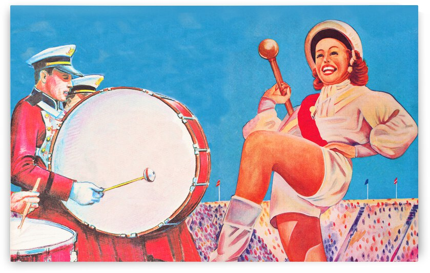 Vintage Gameday Marching Band Art by Row One Brand