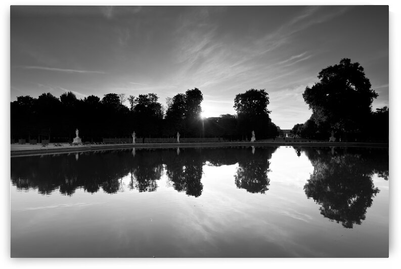 Tuileries reflection by Hassan Bensliman