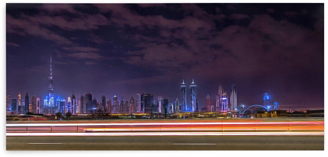Dubai Panoramic Skyline   by M Damien Suriel