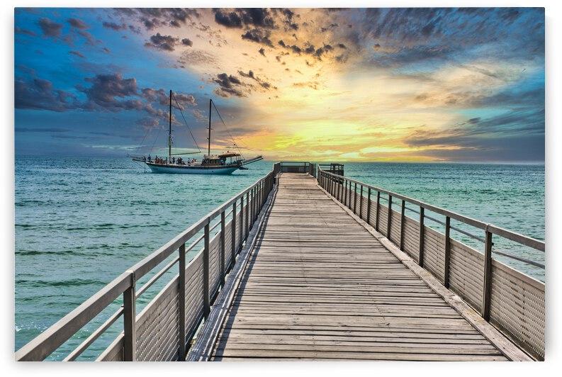 Sunset Pier on the Black Sea by M Damien Suriel